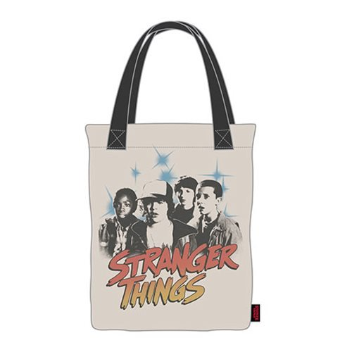 Stranger Things Black and White Canvas Tote