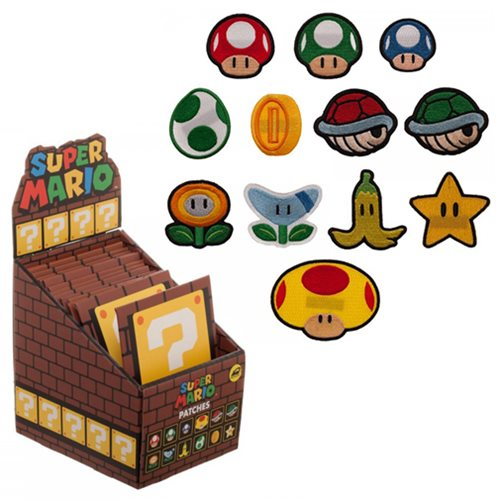 Super Mario Bros Iron-on Patch Random 3-Pack