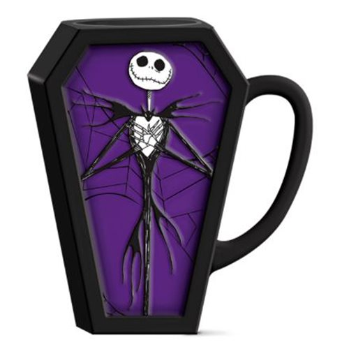 Nightmare Before Christmas Jack Coffin 3D Sculpted Ceramic Mug