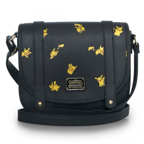 Pokemon Pikachu Print Faux Leather Crossbody Purse