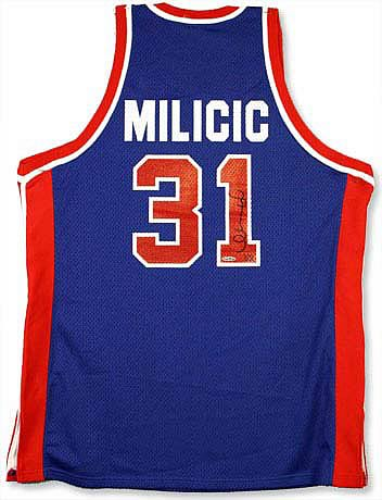 Darko Milicic Signed Pistons Away Blue Jersey - Entertainment Earth d3acbc4b9
