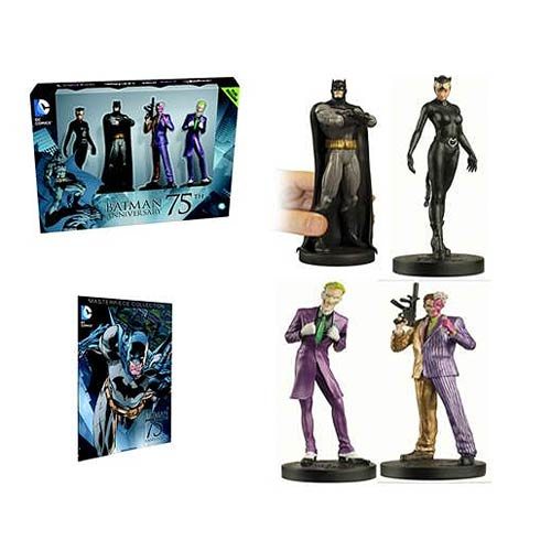 Batman 75th Anniversary Figurine Box Set with Collector Magazine, Not Mint