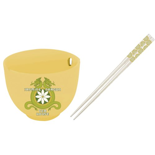 Avatar: The Last Airbender Jasmine Dragon Tea House Bowl and Chopstick Set