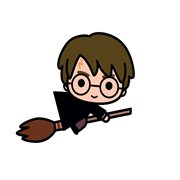 Harry Potter on Broom Charm Mega Magnet