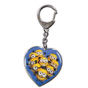 Despicable Me Heart Minions Die-Cast Metal Key Chain