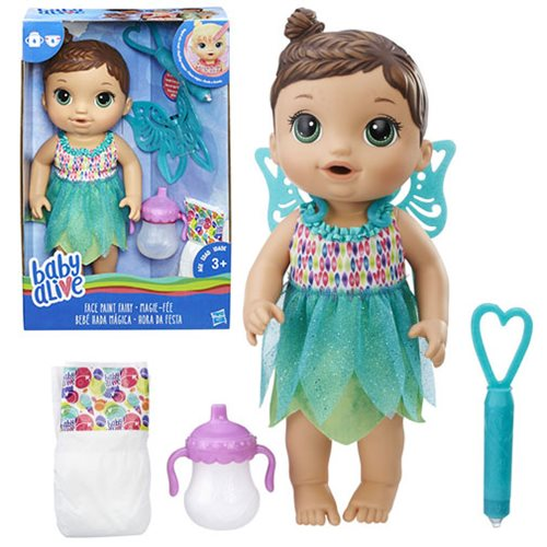 Baby Alive Face Paint Fairy Doll Brunette