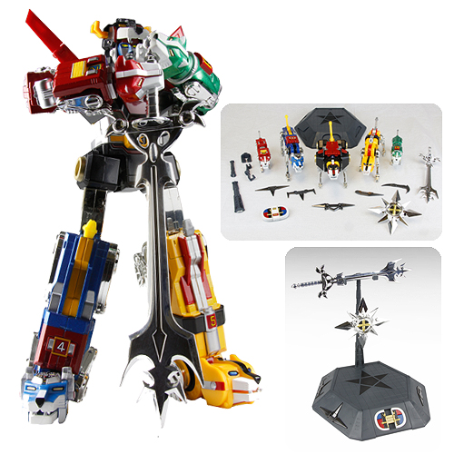 Voltron 30th Anniversary Die-Cast Light-Up Action Figure with Sound Collectors Set