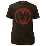 The Invincible Iron Man Distressed Icon Black T-Shirt