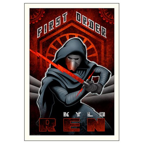 Star Wars: The Force Awakens First Order Ren Paper Giclee Art Print