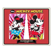 Disney Mickey and Minnie Spotlight 16 oz. Pint Glass 2-Pack