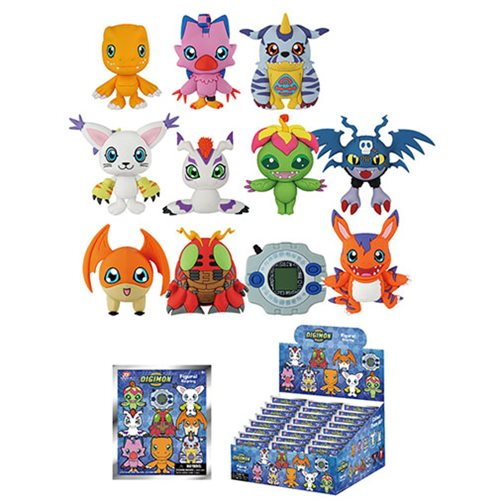 Digimon 3D Figural Key Chain Display Case