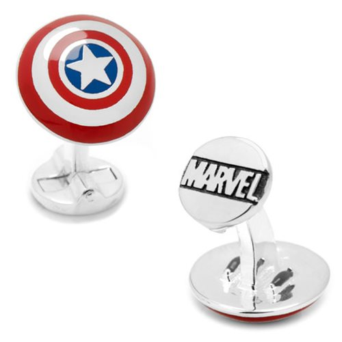 Captain America Shield 3D Cufflinks