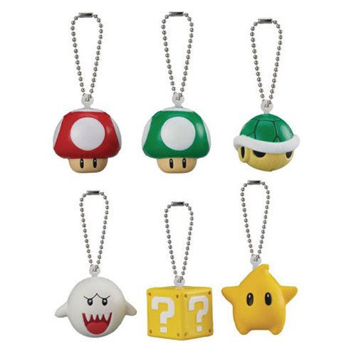 Super Mario 3D World Soft Squeeze Key Chains 6-Pack