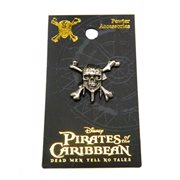 Pirates of The Caribbean Skull Pewter Lapel Pin