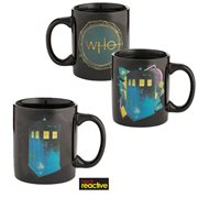 Doctor Who Tardis Blue & Black 12 oz. Heat Reactive Ceramic Mug