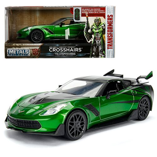 Transformers: The Last Knight Crosshairs Chevy Corvette 1:24 Scale Die-Cast Metal Vehicle