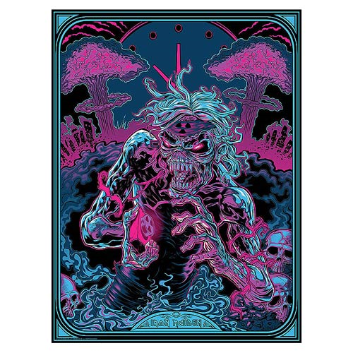 Iron Maiden 2 Minutes to Midnight by Zombie Yeti Silk Screen Art Print