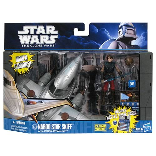 Star Wars Clone Wars Anakin Skywalker and Naboo Skiff