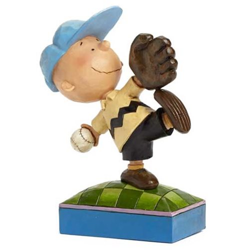 Peanuts Traditions Charlie Brown Baseball Statue