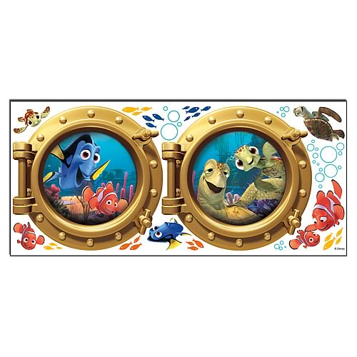 Finding Nemo Portholes Peel and Stick Wall Decals