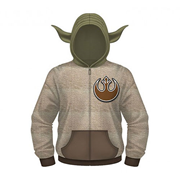 Star Wars Yoda Hooded Costume Fleece Zip-Up Hoodie