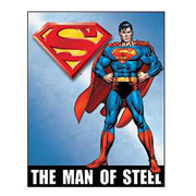 Superman Man of Steel DC Comics Retro Tin Sign