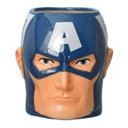 Captain America Head Ceramic Molded Mug