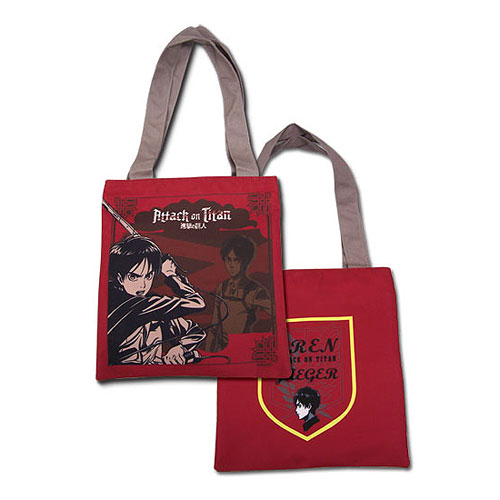 Attack on Titan Eren Red Tote Bag