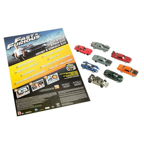 Fast and Furious Elite 1:55 Scale Die-Cast Metal Vehicle 8-Pack