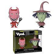 Nightmare Before Christmas Lock and Shock Vynl. Figure 2-Pack