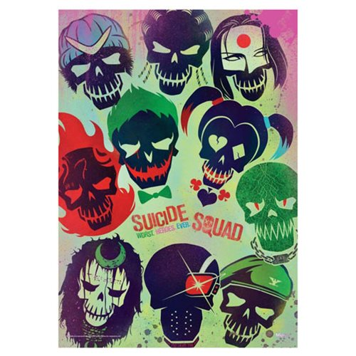 Suicide Squad Worst Heroes Ever MightyPrint Wall Art Print