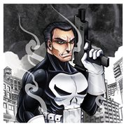 Punisher Character Sketch Armed Canvas Print