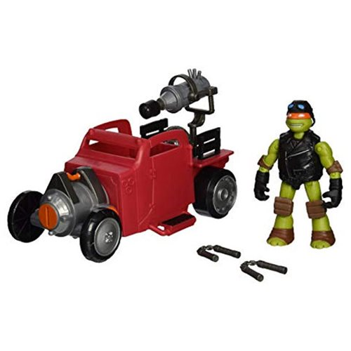 TMNT Hot Rod Vehicle with Michelangelo Figure Pack, Not Mint