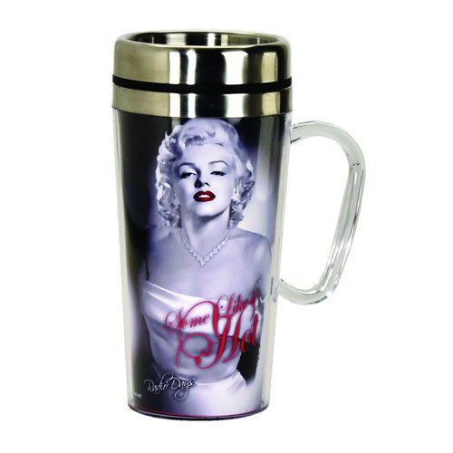 Marilyn Monroe Hot Insulated Travel Mug with Handle