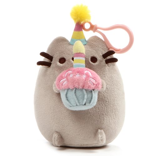 Pusheen the Cat Pusheen Snackable Birthday Backpack Clip-On Plush