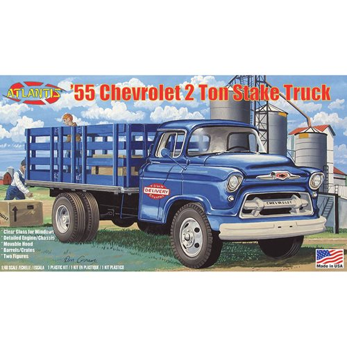 1955 Chevrolet 2 Ton Stake Truck 1:48 Plastic Model Kit
