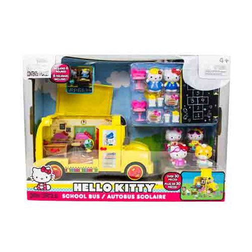Hello Kitty Deluxe School Bus Playset