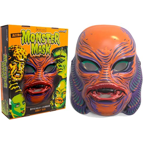 Universal Monsters Orange Gill Man Creature from the Black Lagoon Mask