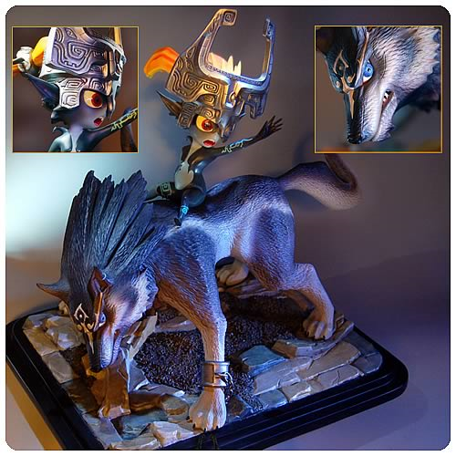 Legend of Zelda Twilight Princess Wolf Link Midna Statue