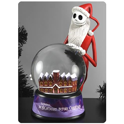 Nightmare Before Christmas Santa Jack Water Globe