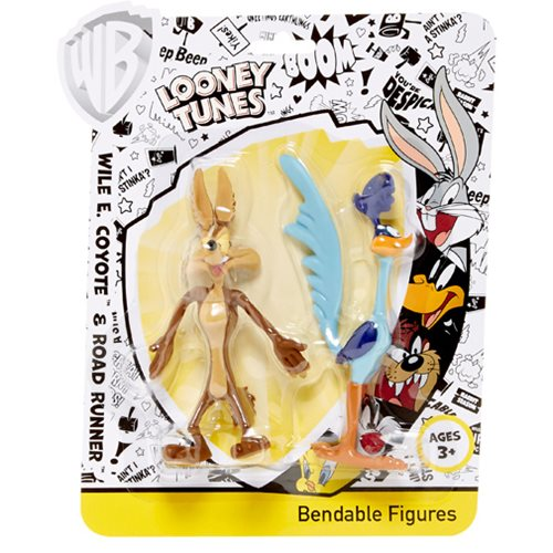 Looney Tunes Wile E. Coyote and Road Runner Bendable Action Figures