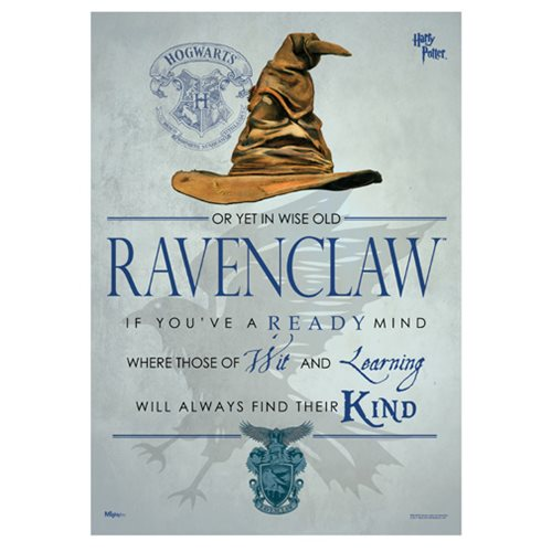Harry Potter Sorting Hat Ravenclaw MightyPrint Wall Art Print