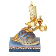 Disney Traditions Beauty and the Beast Lumiere and Feather Duster Romance by Candlelight by Jim Shore Statue