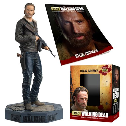 The Walking Dead Rick Grimes Season 5 Version Figure with Collector Magazine #18