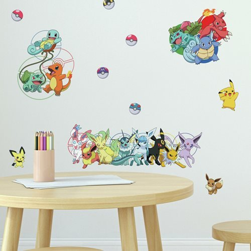 Pokemon Favorite Character Peel and Stick Wall Decals
