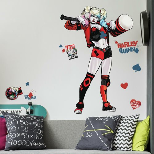 Harley Quinn Peel and Stick Giant Wall Decals