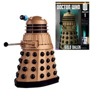 Doctor Who Golden Dalek Figure with Collector Magazine #1