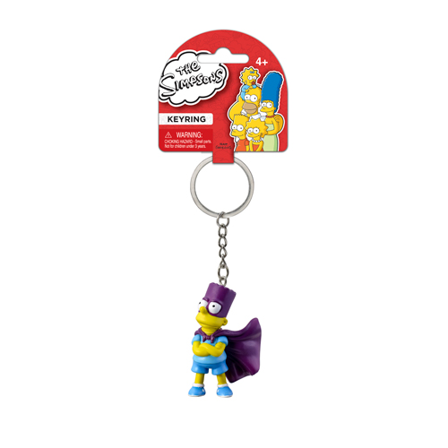 The Simpsons Bartman 3-D Mini-Figure Key Chain