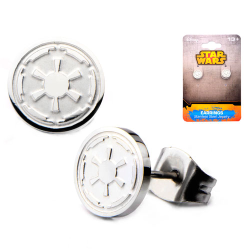 Star Wars Imperial Symbol Stainless Steel Stud Earrings
