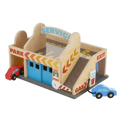 Melissa & Doug Wood Service Station Parking Garage